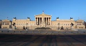 Het Oostenrijkse Parlement in Wenen Stock Foto