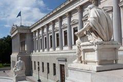 Het Oostenrijkse Parlement Wenen Stock Foto