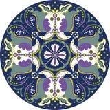 Het oosterse Chinese traditionele patroon van de de vlindercirkel van de lotusbloembloem vector illustratie