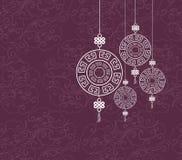 Het oosterse Gelukkige Chinese Ontwerp van het Nieuwjaarpatroon Royalty-vrije Stock Afbeelding
