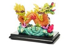 Het oosterse Ornament van de Draak Stock Afbeelding