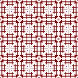Het oosterse Sier Abstracte Bloemen Naadloze Koninklijke Uitstekende Arabische Chinese Transparante Rode Behang van de Patroontex stock illustratie
