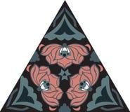 Het oosterse traditionele driehoekige patroon van de lotusbloembloem royalty-vrije illustratie