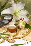 Het oosterse traditionele stilleven van de theeceremonie. Stock Afbeeldingen
