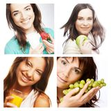 Het op dieet zijn collage Stock Foto