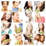 Het op dieet zijn collage Stock Foto's