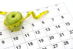 Het op dieet zijn conceptenappel Stock Afbeelding