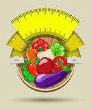 Het op dieet zijn sticker Stock Afbeelding
