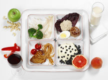 Het op dieet zijn voedsel stock afbeelding