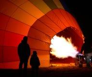 Het opblazen van ballon Stock Foto's