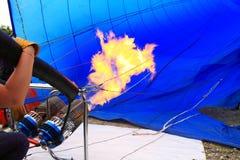 Het opblazen van de Ballon van de Hete Lucht Royalty-vrije Stock Foto