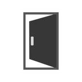 Het open beeld van het deurpictogram royalty-vrije illustratie
