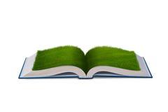 Het open boek in document recyclingsconcept - het 3d teruggeven royalty-vrije illustratie