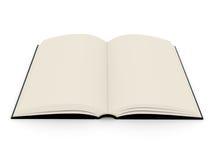 Het open boek in hardcover stock illustratie