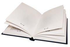 Het open boek, lege pagina's. Stock Foto's