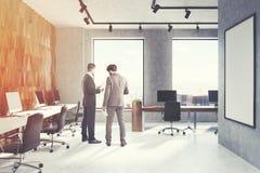 Het open bureau van de diamantmuur, affiche, mensen, kant Stock Fotografie
