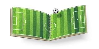 Het open Gebied van het Voetbal Stock Foto's
