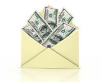 Het open geld van de brief Stock Afbeelding