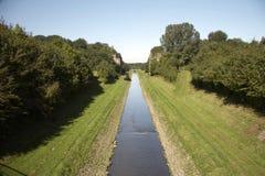 Het open kanaal EMSCHER 02 van het afvalwater Royalty-vrije Stock Afbeelding