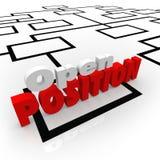 Het open Openen van Positiejob opportunity hiring worker new Stock Afbeelding