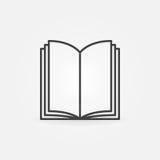 Het open pictogram van de boek dunne lijn vector illustratie