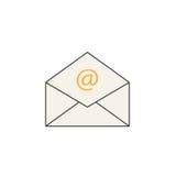 Het open pictogram van de postlijn, die e-mail, envelop vertegenwoordigen vector illustratie