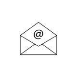 Het open pictogram van de postlijn, die e-mail, envelop vertegenwoordigen royalty-vrije illustratie