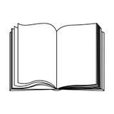 het open pictogram van het cijferboek stock illustratie