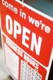 Het open Teken van de Winkel Stock Afbeelding