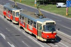 Het openbaar vervoer van Bratislava Stock Foto's