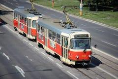 Het openbaar vervoer van Bratislava Stock Fotografie