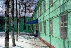 Het openbare houten gebouw Royalty-vrije Stock Fotografie