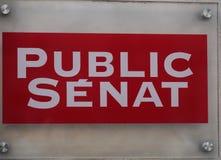 Het openbare netwerk van TV van Sénat Franse stock foto's