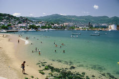 Het Openbare Strand van Acapulco Stock Fotografie