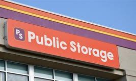 Het openbare Teken van de Opslag Stock Afbeeldingen