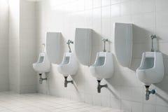 Het openbare toilet van het herentoilet Binnenland en Gezondheidszorg concep royalty-vrije stock afbeeldingen