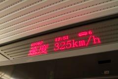 Het openbare vervoer toont de snelheidsinformatie Royalty-vrije Stock Afbeeldingen