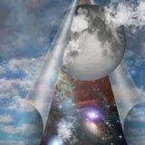 Het openbaren van Maan stock illustratie