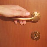 Het openen van de deur Royalty-vrije Stock Afbeelding