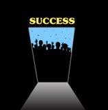 Het openen van de deur van bekendheid en succes Stock Afbeelding