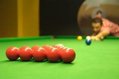 Het openen van de snooker schot Royalty-vrije Stock Afbeeldingen