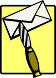 Het openen van een brief stock illustratie