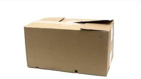 Het openen van een Pakket stock video