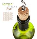 Het openen van flessen wijn Royalty-vrije Stock Fotografie
