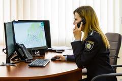 Het openen van het moderne situatiecentrum van de Nationale Politie van stock foto's