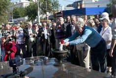 Het openen van het monument in Engelise. Royalty-vrije Stock Afbeelding