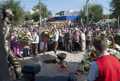 Het openen van het monument in Engelise. Stock Afbeelding