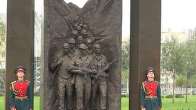 Het openen van het monument voor Sovjetmilitairen in Afghanistan 4K stock footage