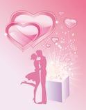 Het openen van magische schatten van liefde Stock Illustratie