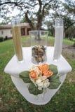 Het openlucht altaar van de huwelijkslijst Royalty-vrije Stock Afbeeldingen